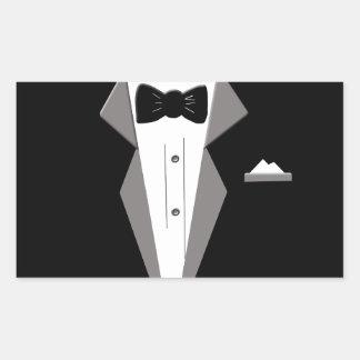 Tuxedo Art Rectangular Sticker