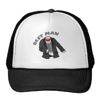 Tuxedo Best Man Mesh Hat