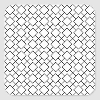Tuxedo Black and White Geometric Pattern Pt8 Square Sticker