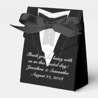 Tuxedo Black Bowtie Wedding Favour Box