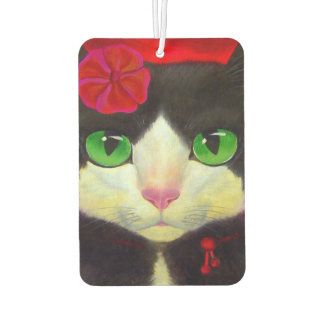 Tuxedo Black Cat New Car Air Freshener