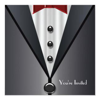Tuxedo Black Tie Formal Event Black Tie Party 13 Cm X 13 Cm Square Invitation Card