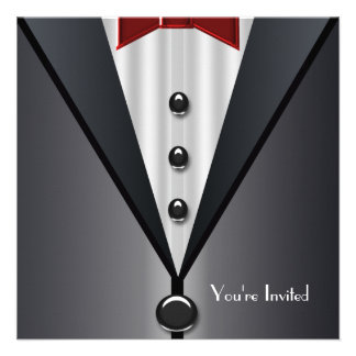 Tuxedo Black Tie Formal Event Black Tie Party Announcement