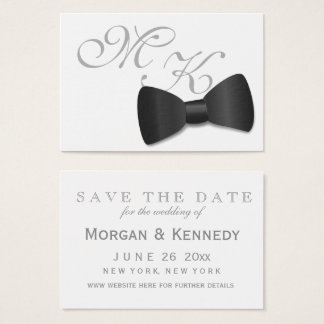 Tuxedo Black Tie Wedding Save The Dates 100 Pack Business Card