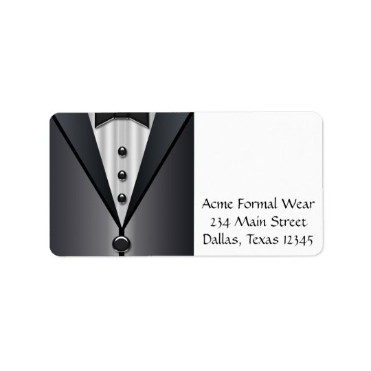 Tuxedo Black & White Address Labels