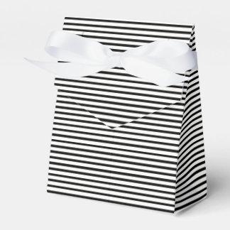 Tuxedo Black & White Baby Stripe Favour Box