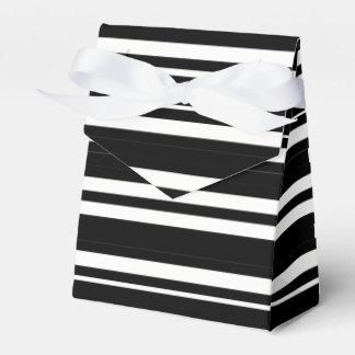 Tuxedo Black & White Double Stripe Favour Box