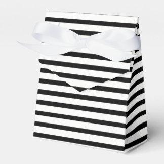 Tuxedo Black & White Stripe Favour Box