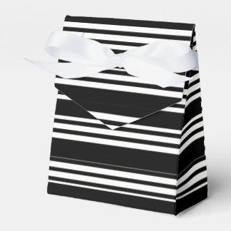 Tuxedo Black & White Triple Stripe Favour Box