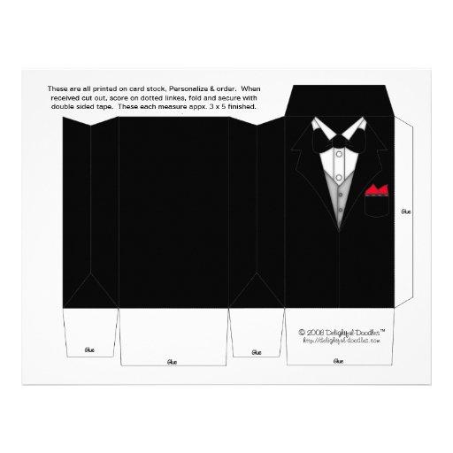 Tuxedo Box Party Favor boxes. Wedding Favors Flyer