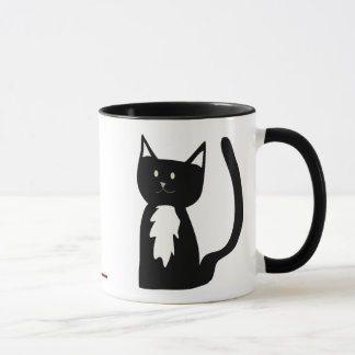 Tuxedo Cat and Ball of Yarn Mug