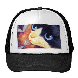 Tuxedo Cat Art - Multi Cap