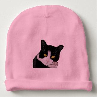Tuxedo Cat Baby Beanie