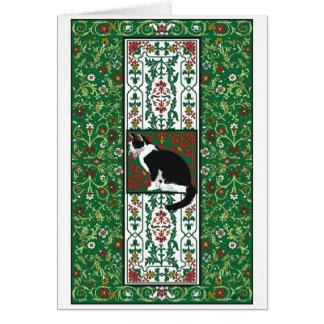Tuxedo Cat Baroque Card