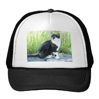 Tuxedo Cat Cap Mesh Hats
