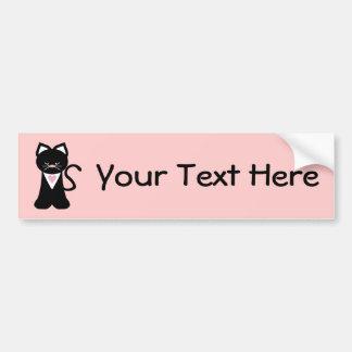 Tuxedo Cat (customizable) Bumper Sticker