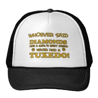 Tuxedo Cat designs Mesh Hat