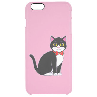 Tuxedo Cat Dressed up in a Bow Tie Clear iPhone 6 Plus Case
