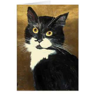Tuxedo Cat - Greeting Card