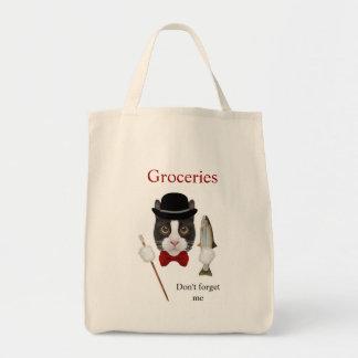 Tuxedo Cat Grocery Tote