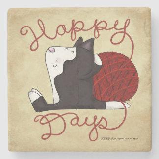 Tuxedo Cat- Happy Days Stone Coaster