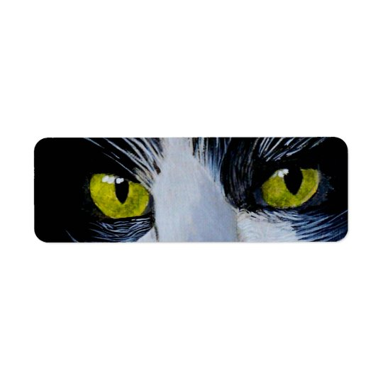 Tuxedo Cat Return Address Label