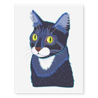 Tuxedo Cat Temporary Tatoo