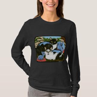 Tuxedo Cats Blue Dragons Mushrooms Fantasy Shirt