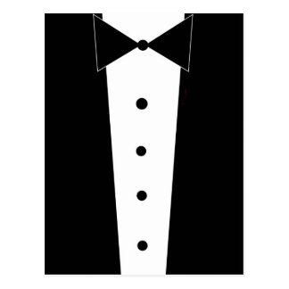 Tuxedo Elegant Formal Post Card