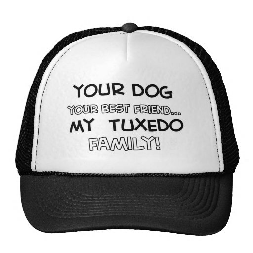 Tuxedo is family designs mesh hats