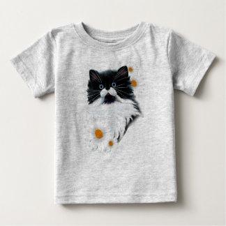 Tuxedo Kitten Face Baby T-Shirt