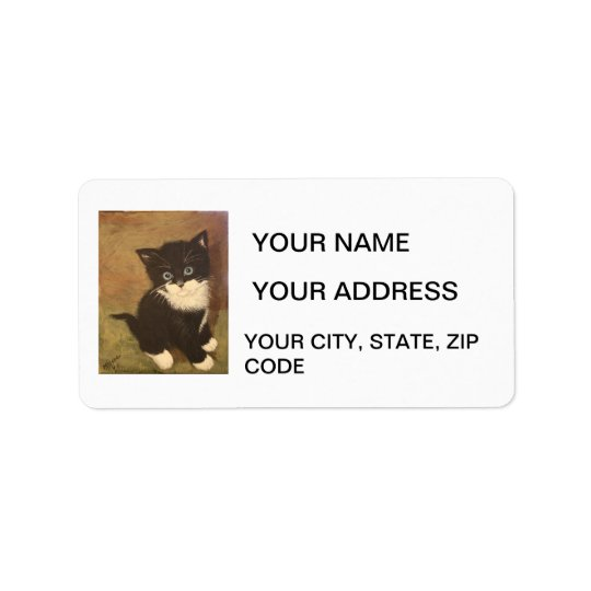Tuxedo Kitten Label