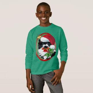 Tuxedo Kitty at Christmas T-Shirt