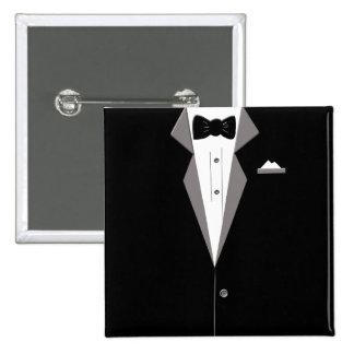 Tuxedo Suit Art Button