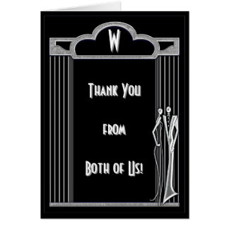 Tuxedo Thank You From Both Greeting Card