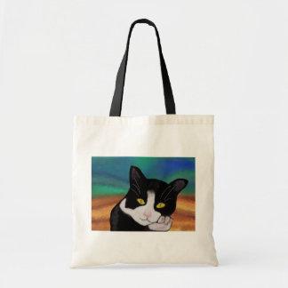 Tuxedo the Cat Canvas Bag