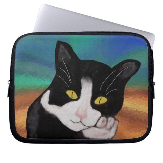 Tuxedo the Cat Laptop Sleeve