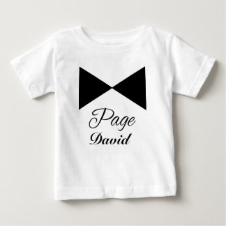 Tuxedo Tie Customizable  Page Boy Tshirt