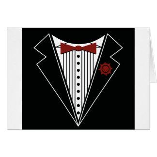 Tuxedo Tshirt Greeting Card