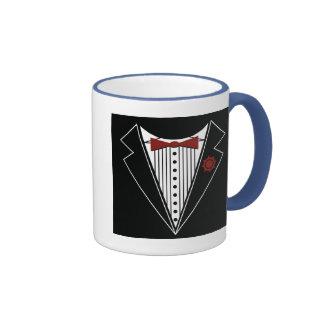 Tuxedo Tshirt Ringer Coffee Mug