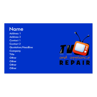 TV and Appliance Repair Business Cards
