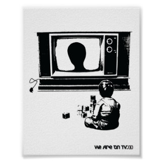 TV and Child Print