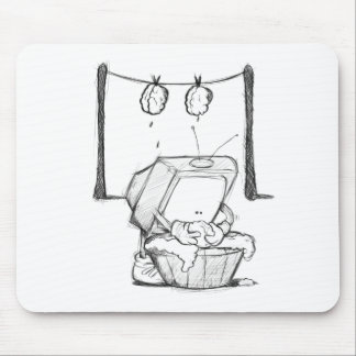 TV Brain Washing Mouse pad