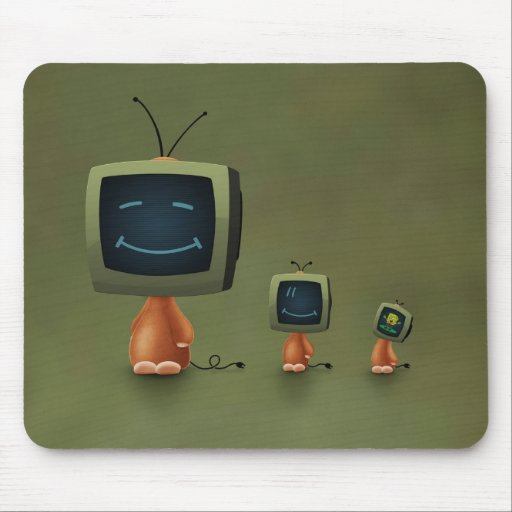 TV Heads Mouse Pads
