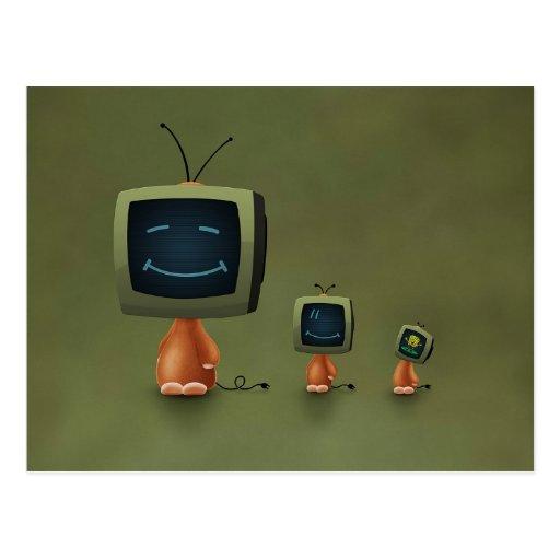 TV Heads Post Card