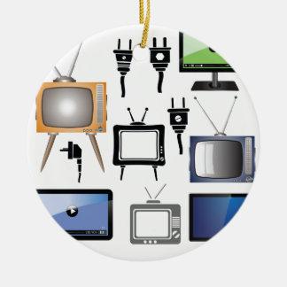 tv icons ceramic ornament