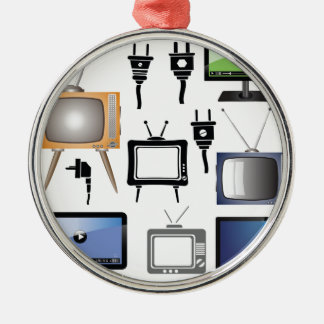 tv icons metal ornament