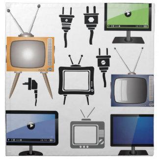 tv icons napkin