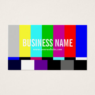 TV Spectrum Film Editor Video Production Business Card
