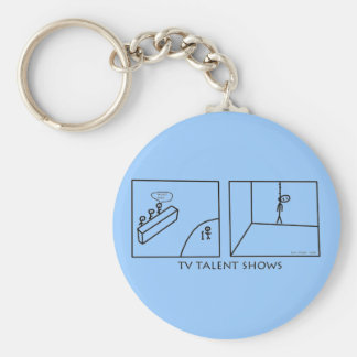 TV Talent Shows Basic Round Button Key Ring
